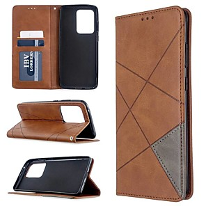 cheap Samsung Case-Case For Samsung Galaxy S20 Ultra / S20 Plus / S10 Plus Wallet / Card Holder / with Stand Full Body Cases  Solid Colored PU Leather Case For Samsung S9 / S9 Plus / S10E /S10 / S20