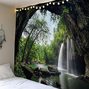 cheap Wall Stickers-3D Great Falls Print Tapestry Wall Hanging Decorative Wall Carpet Bed Sheet Bohemian Hippie Home Decor Couch Throw