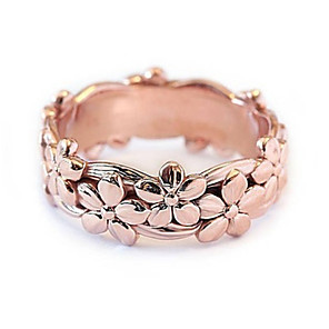 cheap Rings-Women's Ring 1pc Rose Gold Silver Platinum Plated Alloy Stylish Daily Jewelry Flower Cute