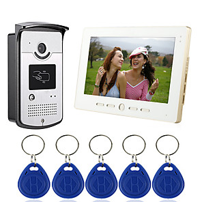 cheap CCTV Cameras-Wired 7 Inch Hands-free 800*480 Pixel One To One Video Doorphone