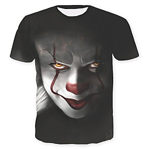 cheap Everyday Cosplay Anime Hoodies & T-Shirts-Inspired by Joker Pennywise Cosplay Costume T-shirt Cotton Fibre Print T-shirt For Men's / Women's