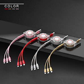 cheap Cell Phone Cables-3 in 1 data Cable Apple Android LeTV Type-c Mobile Phone Triple Charger Line long charging