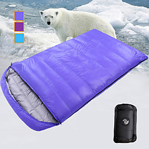 cheap Sleeping Bags & Camp Bedding-Sleeping Bag Outdoor Camping Double Wide Bag Envelope / Rectangular Bag -10 ~ -25 °C Double Size Duck Down Lightweight Windproof Breathable Warm Wear Resistance 220*120 cm Autumn / Fall Winter for