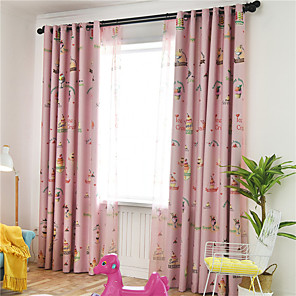 cheap Curtains Drapes-Gyrohome 1PC Ice Cream Shading High Blackout Curtain Drape Window Home Balcony Dec Children Door *Customizable* Living Room Bedroom Dining Room