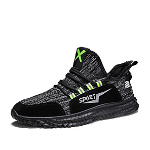 cheap Synthetic Lace Wigs-Men's Tissage Volant Spring & Summer Sporty Athletic Shoes Running Shoes Shock Absorbing Booties / Ankle Boots Black / Dark Grey / Beige / Square Toe
