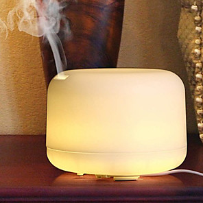 cheap LED Smart Home-1pcs 500ml Remote Control Essential Oil Aroma Diffuser Ultrasonic Electric Aromatherapy Air Humidifier With 7 Color LED Lights For Home