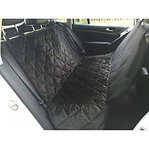 cheap Dog Travel Essentials-Dog Cat Car Seat Cover Health Care Portable Travel Folding Solid Colored Nylon Black
