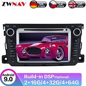 cheap Car DVD Players-ZWNAV 8inch 2din Android 9.0 DSP 4GB 64GB Car DVD Player GPS navigation Car auto radio Car multimedia Player Car MP5 Player recorder For Benz Smart 2010-2014
