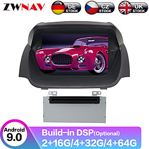 cheap Car DVD Players-ZWNAV 7inch 2din DSP Android 9 4GB 64GB Car DVD Player Car GPS Navigation auto stereo radio car Multimedia Player navi for Ford Fiesta 2013-2016
