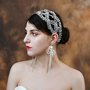 cheap Wedding Wraps-Alloy Headpiece with Rhinestone 1 Piece Wedding Headpiece