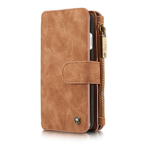 cheap iPhone Cases-CaseMe Multifunctional Magnetic Luxury Business Leather Flip Phone Case For iPhone 8 / 7 / 6 / 6s / 8 Plus / 7 Plus / 6 Plus With Wallet Card Slot Stand Detachable Case Cover