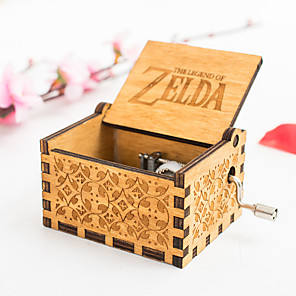 cheap Music Boxes-Music Box Musical Jewellery Box Wooden Music Box Antique Music Box Holiday Retro Creative Unique Wooden Women's All Girls' Kid's Adults Child's Adults' 1 pcs Graduation Gifts Toy Gift