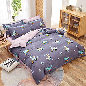 cheap Cartoon Duvet Covers-Simple Bedding Set With Pillowcase Duvet Cover Sets Bed Linen Sheet Single Double Queen King Size Quilt Covers Bedclothes