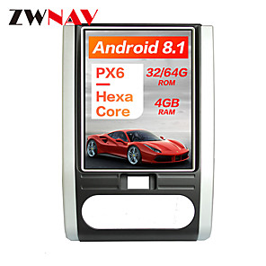 cheap Car DVD Players-ZWNAV 10.4inch 1DIN 4GB 64GB Android 8.1 PX6 DSP Tesla style Car DVD Player GPS Navigation Car multimedia player For NISSAN X-TRAIL Qashqai 2007-2014