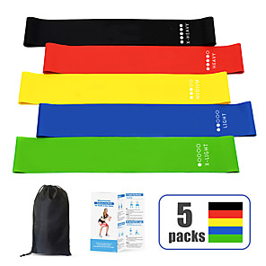 cheap Fitness Gear & Accessories-Resistance Loop Exercise Bands Resistance Bands Sports Emulsion Pilates Exercise & Fitness Gym Workout Adjustable Durable Resistance Training Myofascial Release, Trigger Point Therapy, Muscle Knots