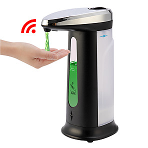 cheap Thermometers-Liquid Soap Dispenser 400Ml Automatic Smart Sensor Touchless ABS Electroplated Sanitizer Dispensador Bottle for Kitchen Bathroom
