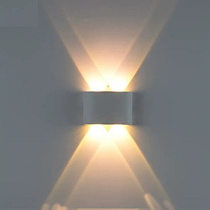 cheap Indoor Wall Lights-Creative LED Modern LED Wall Lights Living Room Shops Cafes Aluminum Wall Light IP44 Generic 1 W