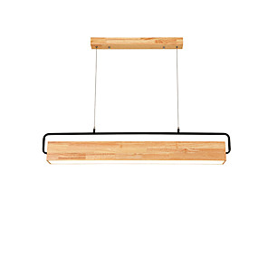 cheap LED String Lights-10 cm Square Line Design Pendant Light Wood / Bamboo Wood / Bamboo Painted Finishes Nature Inspired / Country 110-120V / 220-240V