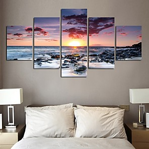 cheap Prints-5 Panels Modern Canvas Prints Painting Home Decor Artwork Pictures Decor Print Rolled Stretched Modern Art Prints Modern Art Prints