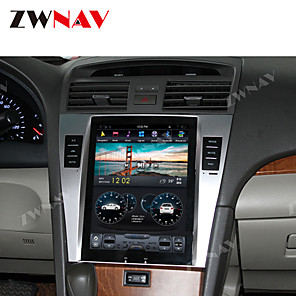 cheap Car DVD Players-ZWNAV 10.4 Inch 1DIN 4GB 64GB Android 8.1 PX6 Tesla style Car GPS Navigation stereo Car multimedia player Car MP5 Player radio tape recorder For TOYOTA CAMRY 2007-2011
