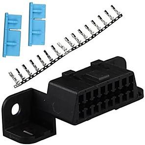 cheap OBD-16pin Female Angle Connector 16 pin Obd2 Connector Obd Obd 2 Female Wire Sockets Connector Plug Obd Ii Adapter Diagnostic Tools