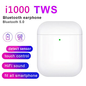 cheap TWS True Wireless Headphones-i1000 TWS Bluetooth 5.0 In-ear Smart Sensor TWS Wireless Earphone Black & White Headsets Earbuds Pop up headphones Pk i5000