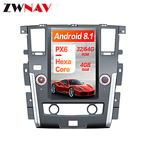 cheap Car DVD Players-ZWNAV 13.6 inch Plus 1DIN 4GB 64GB Android 8.1 Tesla style Car DVD Player GPS Navigation Car multimedia Player For NISSAN PATROL 2010