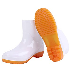 cheap Shoes Covers & Rainshoes-Men's PU Winter Boots Waterproof Mid-Calf Boots White