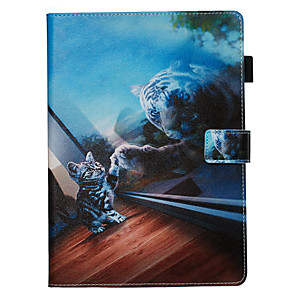 cheap iPad case-Case&Stylus pen For Apple iPad Pro 10.5 / Ipad air3 10.5' 2019 Dustproof / with Stand / Flip Back Cover Cat PU Leather