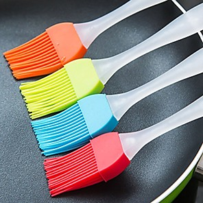cheap novelty kitchen tools-2pcs Household High Temperature Barbecue Brush BBQ Tools Easy To Clean Soft Silicone Baking Bakeware Kitchen Utensils