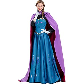 cheap Movie & TV Theme Costumes-Anna Cosplay Costume Adults' Women's Dresses Christmas Halloween Carnival Festival / Holiday Silk Cotton Purple Carnival Costumes Princess