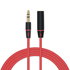 cheap Audio Cables-3.5mm Jack To Jack Male To Female Audio Cable Extension Cord AUX Audio Cable For Headphones Headset Microphone ETC 1.2m