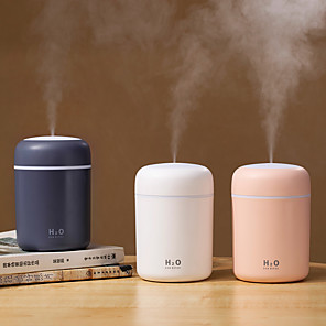 cheap Humidifiers-Portable 300ml Humidifier USB Ultrasonic Dazzle Cup Aroma Diffuser Cool Mist Maker Air Humidifier Purifier with Romantic Light