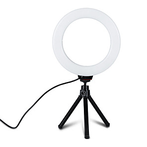 cheap Ring light-1pcs 6 inch Dimmable Cold Warm LED Studio Camera Ring Light TikTok Light Youtube Video Photo Phone Video Light Lamp With Tripods Ring Table Fill Light