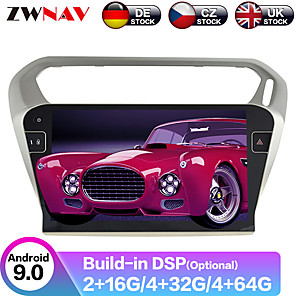 cheap Car DVD Players-ZWNAV 9inch 1din Android 9 4GB 64GB car GPS navigation car Multimedia Player radio tape recorder auto stereo Car MP5 Player For PEUGEOT 301 For Citroen Elysee 2014