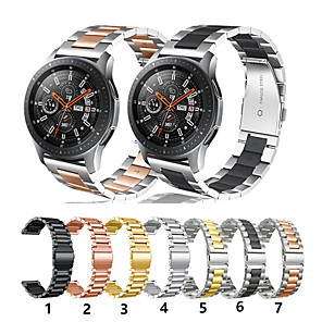 cheap Smartwatch Bands-Watch Band for Gear S3 Frontier / Gear S3 Classic / Gear 2 R380 Samsung Galaxy Sport Band Stainless Steel Wrist Strap