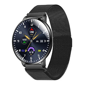 cheap Smartwatches-Z58 Stainless Steel Smartwatch for Samsung/ IOS/ Android Phones, Bluetooth Fitness Tracker Support Heart Rate Monitor/ Blood Pressure Measurement