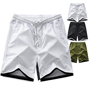 "cheap Hiking Trousers & Shorts-Men's Hiking Shorts Summer Outdoor 7"" Relaxed Fit Breathable Quick Dry Sweat-wicking Wear Resistance Nylon Shorts Bottoms Camping / Hiking Fishing Climbing White Black Army Green M L XL XXL XXXL"