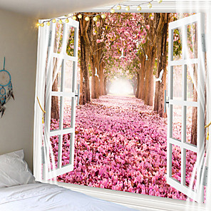 cheap Wall Tapestries-Garden Theme Wall Decor 100% Polyester Contemporary Wall Art, Wall Tapestries Decoration