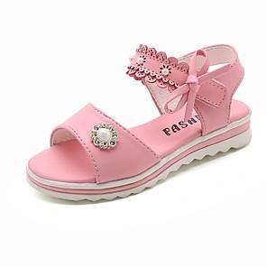 cheap Kids' Sandals-Girls' Sandals Comfort / Children's Day PVC Little Kids(4-7ys) White / Pink Summer