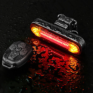 cheap Bike Lights & Reflectors-LED Bike Light Rear Bike Tail Light LED Bicycle Cycling Super Bright Remote Control / RC Li-polymer 180 lm Rechargeable Battery Dual Light Source Color Cycling / Bike