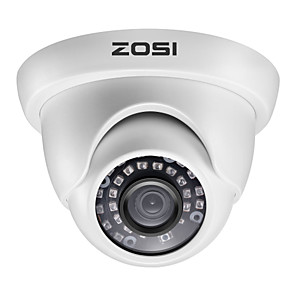 cheap CCTV Cameras-ZOSI H.265 3.6mm 1080P TVI Indoor & Outdoor Dome CCTV Camera Security Surveillance Waterproof AHD CVI TVI CVBS Analog System Infrared Night Vision