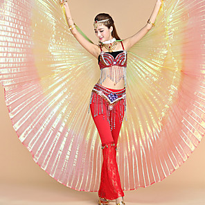 cheap Dancing Costumes-Women's Dancer Belly Dance Iridescent Terylene Rainbow Wings