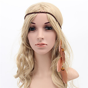 cheap Accessories-Fabric Headbands Durag Adjustable For Party Evening Holiday Bohemian Style Headband Beige Coffee 1 Piece / Women's
