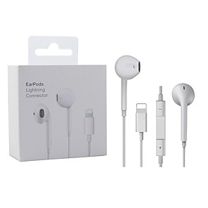 cheap Wired Earbuds-Lighting Earphone With Microphone Wired Stereo Earphones For Apple Iphone 8 7 Plus X XS MAX XR iPod Wired Earphone Lightning