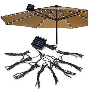 cheap LED String Lights-72 LED Solar Garden Umbrella light Outdoor Waterproof IP67 String Lights Light Sensor Control Garden Decorative Lamp 1 set