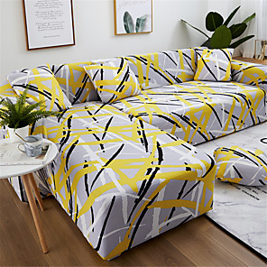 cheap Cushion Covers-Sofa Cover Couch Cover Furniture Protector Soft Stretch Sofa Slipcover Spandex Jacquard Fabric Super Strechable Cover Fit for Armchair/Loveseat/Three Seater/Four Seater/L Shape Sofa Easy to Install