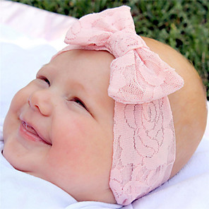 cheap Accessories-Fabric Headbands Durag Kids Bowknot Elasticity For New Baby Holiday Stylish Active Blushing Pink Camel Mint Green