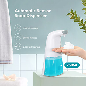 cheap Historical & Vintage Costumes-250ML Automatic Foam Soap Dispenser Hand Sanitize Wash Intelligent Liquid Soap Dispenser Bathroom Sensor Induction Hand Washing