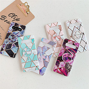 cheap Samsung Case-Samsung Note 10 Pro A90 5G A50 A70 A30 / A20 A10 / M10 marble geometric bracket phone case Samsung S8 S9 Plus S10 Plus S10E / Lite phone case IMD flash soft phone case